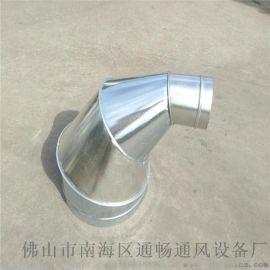 佛山通风管道生产加工厂白铁通风工程专用除尘螺旋风管