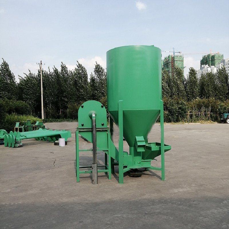 自吸式粉碎攪拌機 立式精飼料攪拌機 家禽飼料混合機