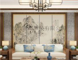 长沙现代简约挂画装饰画,客厅背景墙硬包厂家直销