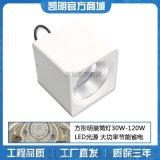 方形明装筒灯30W40W50W100WLED射灯
