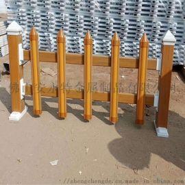 东莞园林护栏厂家 PVC草坪栅栏 绿化隔离栏报价