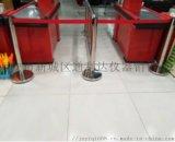 西安银行柱不锈钢伸缩柱伸缩隔离柱