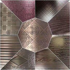 高比304不锈钢彩色板 镜面不锈钢蚀刻花纹板