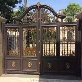 绍兴诸暨欧式铝艺大门铝合金阳台护栏定做效果图