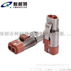 2芯高压直式防水插头,60A大电流压接型连接器