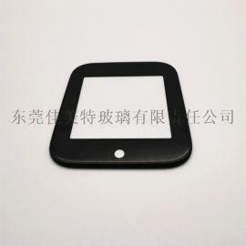 1mm弧边钢化丝印玻璃 丝印智能手表玻璃