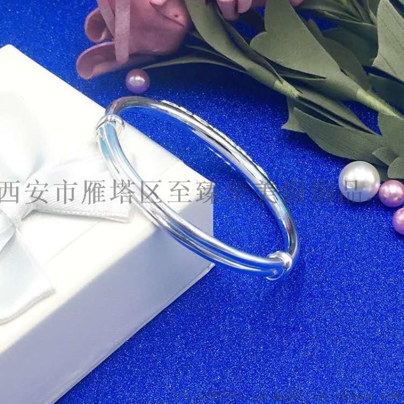 s999纯银手镯厂家精品推拉花丝s999纯银手镯