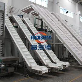 不锈钢链板食品输送定制耐静电皮带运输机械