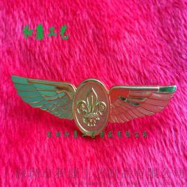 空姐飞行员工作带的金属胸牌 航空公司金属胸牌定制