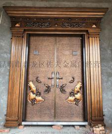 佐夫铸铝门防爆铸铝门别墅大门私人订制入户门
