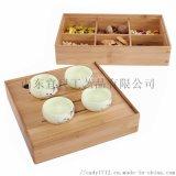 中式竹木干果盒创意客厅茶几家用分格带盖