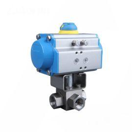 进口气动高压三通球阀-高压换向-高压气体-液压油