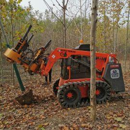 挖掘机改装挖树机 常青移树机 滑移装载机改装起树机