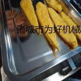 深海鳕鱼排油炸线 鳕鱼片裹糠机 鱼排裹粉设备