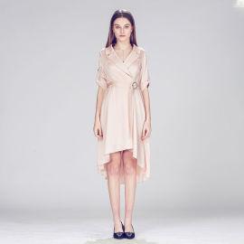 不规则连衣裙收腰显瘦公主裙