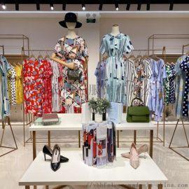 品牌折扣女装2020夏装新款连衣裙原创品牌尾货走份