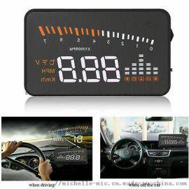 OBD汽车数字车载显示屏车速HUD投影仪X5