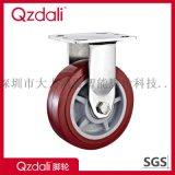 重型不鏽鋼棗紅色PU腳輪