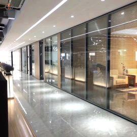 广东厂家直销单玻隔断透明办公隔墙,高隔间铝型材