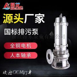 厂家直销无堵塞排污泵304不锈钢潜水泵污水处理厂排污泵