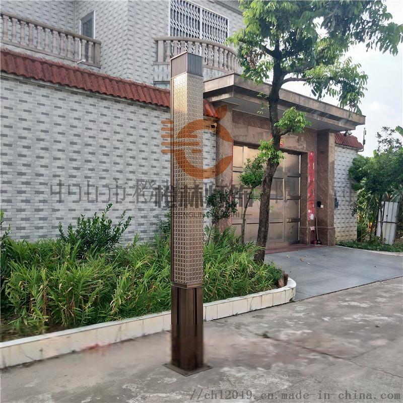 仿古道路金茂府景觀燈園林道路庭院燈不鏽鋼高杆燈防水