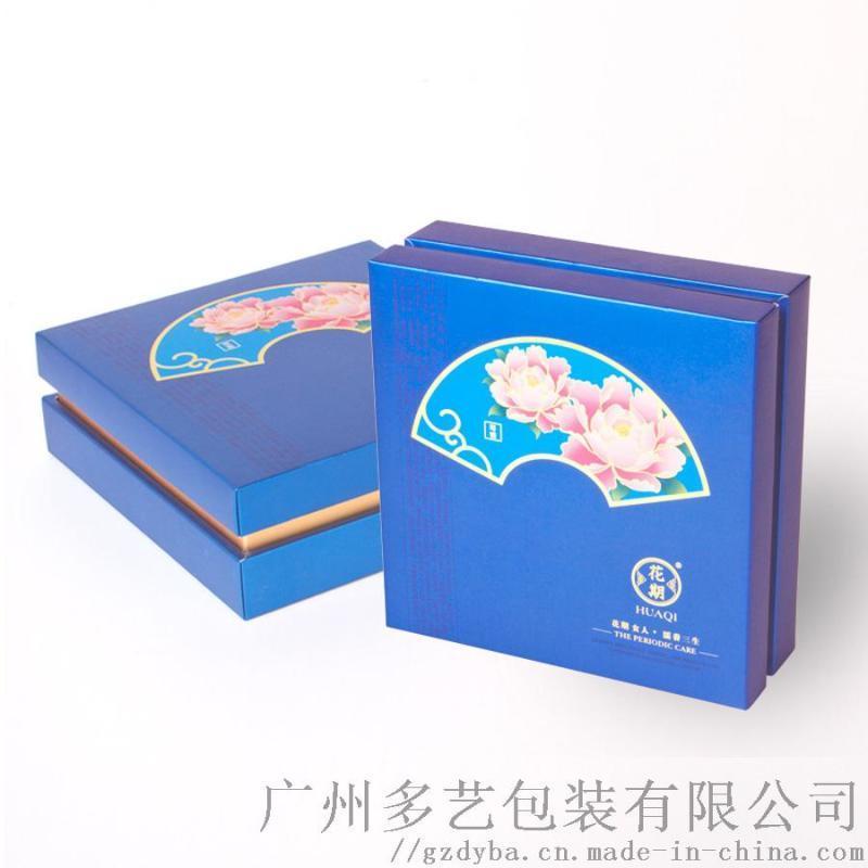 广州包装盒礼盒定制厂家古风烫金正方形天地盖礼盒