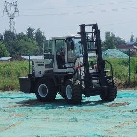 5吨搬运车四驱装载机柴油四轮装载机式升降叉车