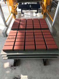天津多功能彩色液压制砖机数块制品一次成型降低电力