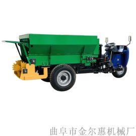 好用的三轮车改装撒粪机 农家肥撒肥车