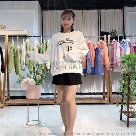 19冬季【七巧儿】加绒卫衣 品牌折扣女装货源走份