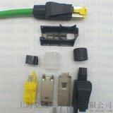 四芯绿色工业以太网电缆-profinet通讯网线