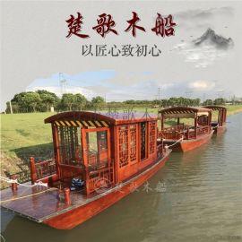 广西南宁木船厂家定做游览船多少钱一艘