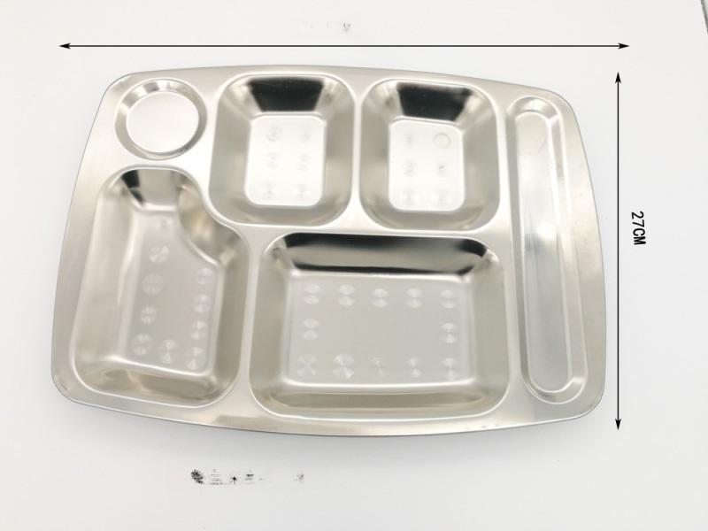 不鏽鋼06厚快餐盤 無磁餐盤 深圳餐盤定製