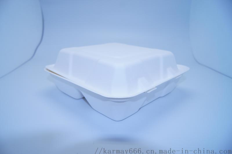 一次性8寸3格餐盒甘蔗渣紙漿可降解餐盒