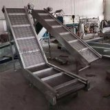 食品加工生產線不鏽鋼鏈板提升機上料提升機