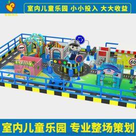厂家定制儿童乐园室内设备蹦床喷水充气城堡室内吐鲁番金桔游乐积木乐园充气城堡游乐设备