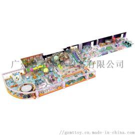厂家供应定制大型商城小清新风格儿童蹦蹦床亲子淘气堡游乐园设施
