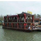 大型景區觀光旅遊船,仿古畫舫船廠家定製,公園餐飲船