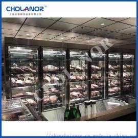供应干式熟成柜湿式牛肉排酸展示冰箱和牛安格斯牛肉柜