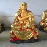 铜雕十八罗汉佛像,昌东铜雕佛像厂家,贴金铜十八罗汉