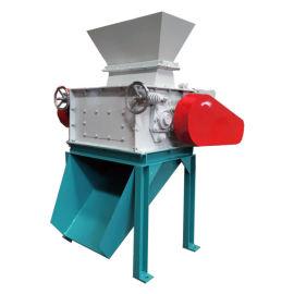 豆粕玉米破碎机双辊挤压碎粒时产5吨大型破碎机