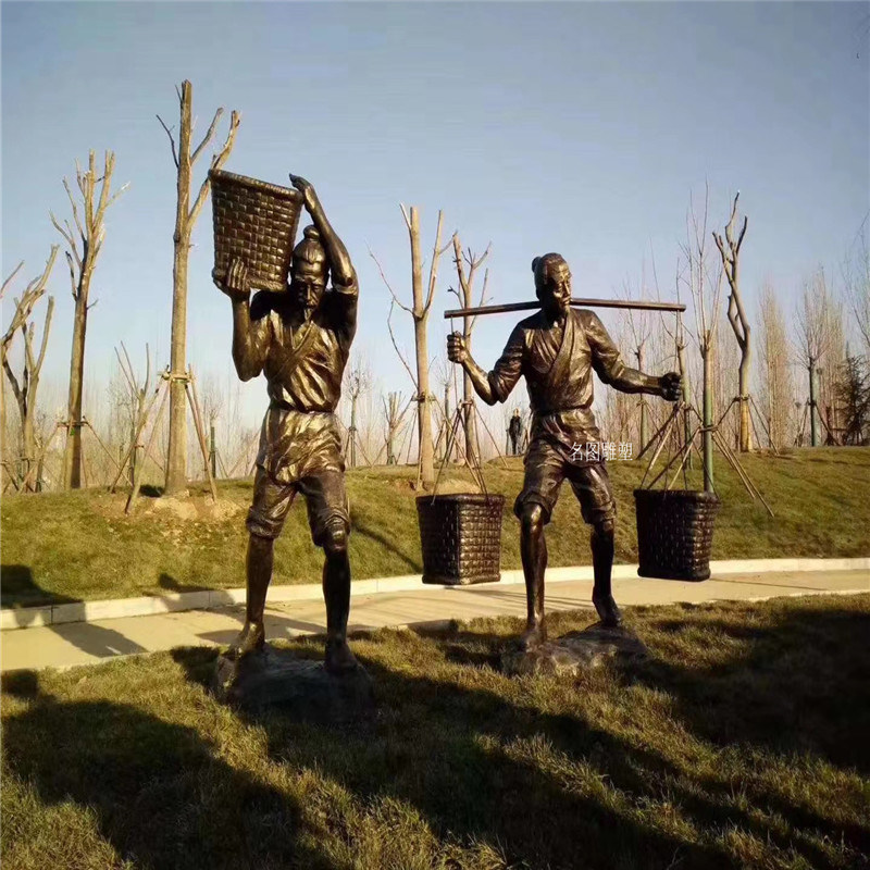 贵州玻璃钢人物雕塑 农耕文化雕塑