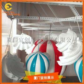 玻璃鋼熱氣球掛飾  美陳展示 擺放