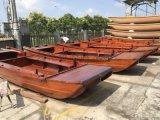 江西7米景区木质包玻璃钢手划船厂家直销免维护保养