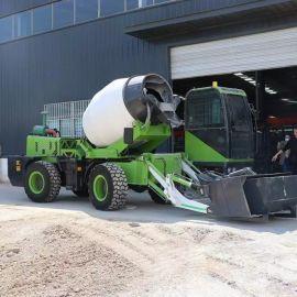 自上料混凝土搅拌车 全自动混泥土搅拌运输车