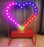 室外商場廣場發光浪漫情侶心形互動燈飾愛心裝置