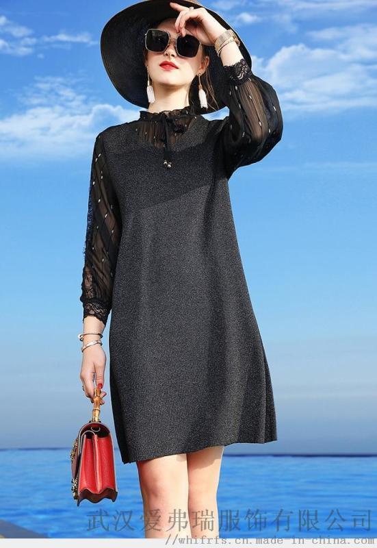 褶淨2020新款寬鬆苧麻拼接裙子怎樣開服裝小店