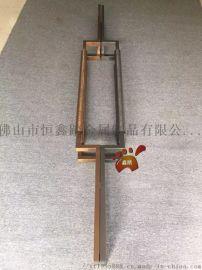 中国银行不锈钢大门拉手免费设计LOGO