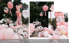 清遠七夕告白氣球裝飾浪漫氣球雨制作驚喜求婚