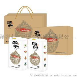 厂家直销大米铁罐食用油圆罐**礼盒包装